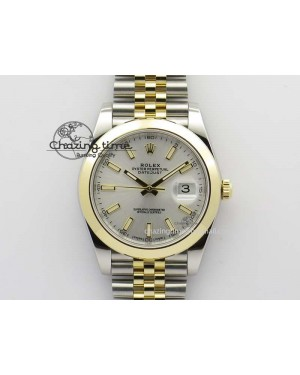 DateJust 41mm 126303 Noob 1:1 Best Edition YG Wrapped Silver Dial On SS/YG Jubilee Bracelet A3235