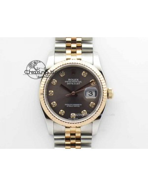 DateJust 116234 SS/RG BP Best Edition Gray Dial Diam Markers On SS/RG Bracelet SA3135