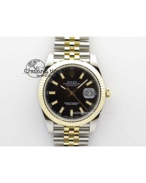 DateJust 41mm 126333 Noob 1:1 Best Edition YG Wrapped Black Dial On SS/YG Bracelet A3235