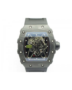 RM035-01 FC Case KVF Best Edition Skeleton Dial Black Crown On Rubber Strap MIYOTA8215 V2