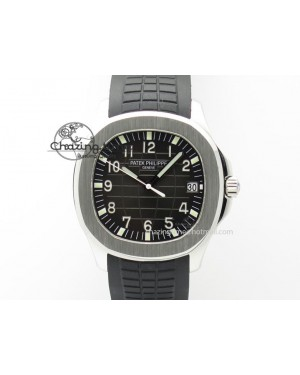 Aquanaut Jumbo SS Bp-Maker V3 Best Edition Black Dial On Black Rubber Strap MIYOTA 9015 PP324CS