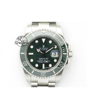 Submariner LV SS/SS Green Dial BP Maker Best Edition Swiss ETA2836