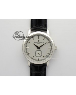 VC Sec@6 SS UT Best Edition White Dial Sticks Markers On Black Leather Strap