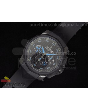 Challenge Cup Competition 48 DLC Black Dial on Black Rubber Strap A7753