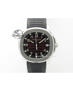 Aquanaut Jumbo SS Bp-Maker Best Edition Brown Dial On Black Rubber Strap MIYOTA 9015 PP324CS