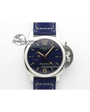 PAM688 S VSF 1:1 Best Edition Blue Dial On Blue Leather Strap P.9001 Super Clone V2