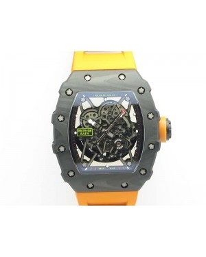 RM035-02 Rafael Nadal FC Ti Case KVF Best Edition Skeleton Dial Orange On Rubber Strap MIYOTA8215 V2