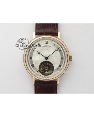 Grand Complication Tourbillon RG AXF White Dial On Brown Leather Strap
