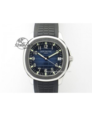 Aquanaut Jumbo SS V6 Maker Best Edition Blue Dial On Black Rubber Strap A2824