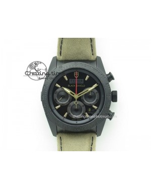 Black Shield DLC ZF Best Edition on Brown Leather Strap A7753