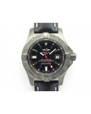 Avenger II Seawolf DLC Best Edition Black Stick Dial On Leather Strap A2836 (Free Leather Strap) V2