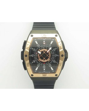 Skafander RG Black On Black Rubber Strap MIYOTA 8215