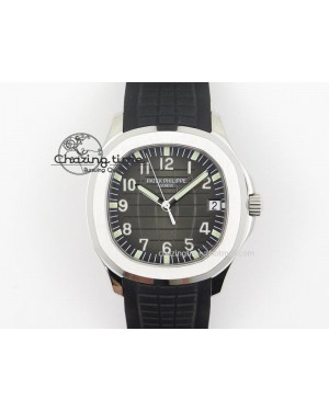 Aquanaut Jumbo V4 SS Black Dial on Black Rubber Strap Best Edition A2824