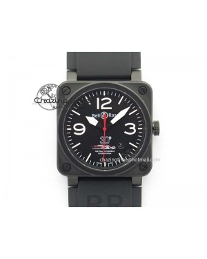 BR 03-92 PVD Case Black Dial 30 LTD 42.5mm On Rubber Strap MIYOTA 9015 V2
