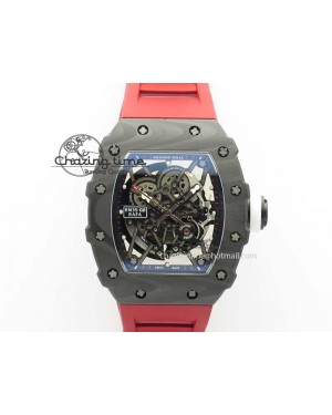RM035-02 Rafael Nadal FC Ti Case KVF Best Edition Skeleton Dial White On Red Rubber Strap MIYOTA8215