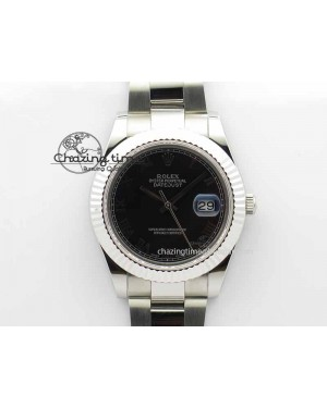 DateJust II 41mm SS BP Maker Best Edition Black Roman Markers Dial On SS Bracelet SA3136