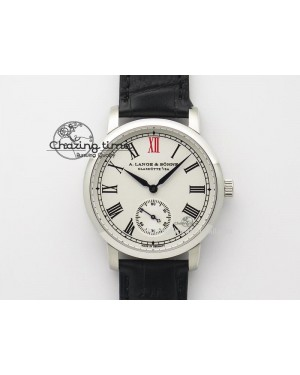 Anniversary Langematik MK Best Edition SS White Dial Sec@6 On Black Leather Strap A88275