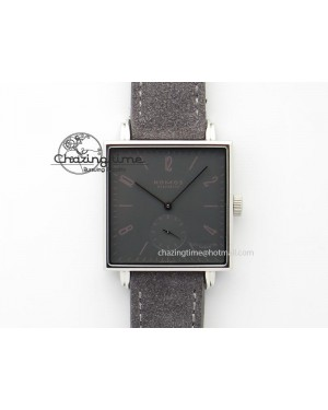 Tetra SS Grey Dial On Grey Leather Strap A2813