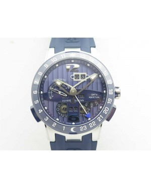 Executive Toro SS TWA 1:1 Best Edition Blue Dial On Rubber Strap Asian UN-32
