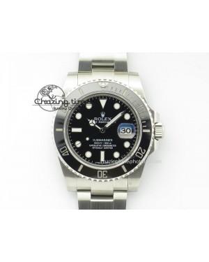 Submariner 116610 LN Black Ceramic JF 1:1 Best Edition On SS Bracelet A2836 V3